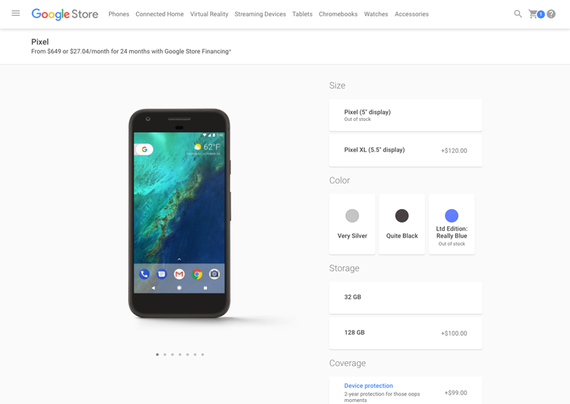Google ux design example