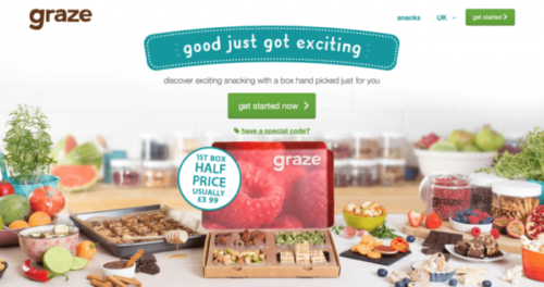 graze ux design example