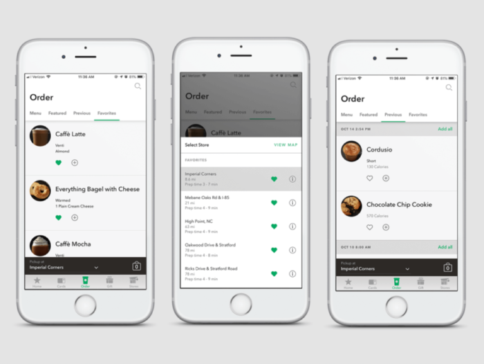 Starbucks ux design example