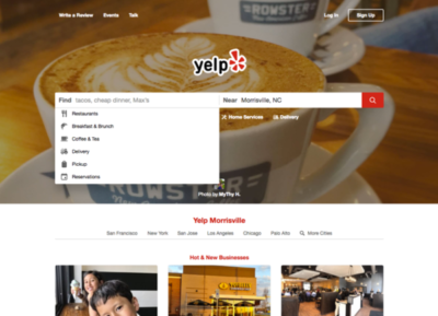 Yelp ux design example