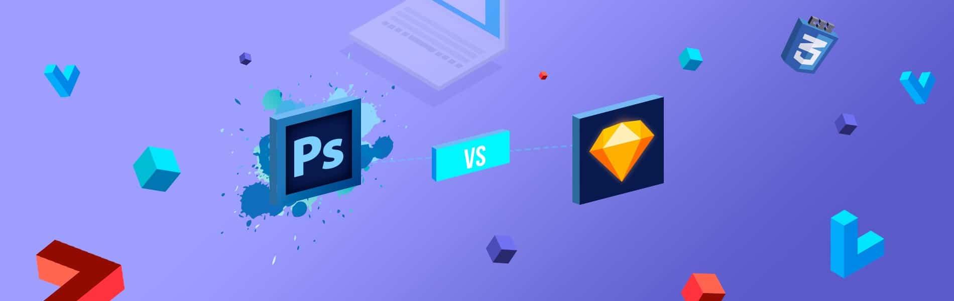 Sketch vs Photoshop (Infographics)