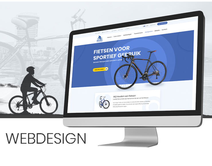 F5 Studio work of ecommerce project from Netherlands, the website sells bikes