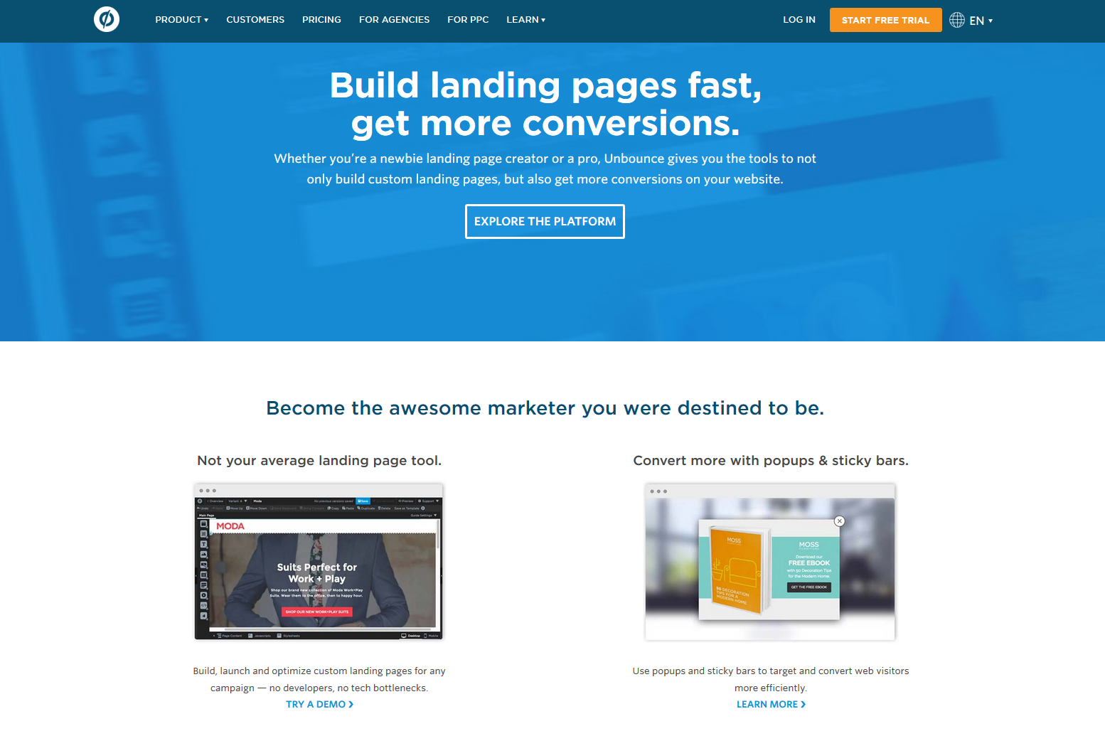 Example of Landing Page Builder