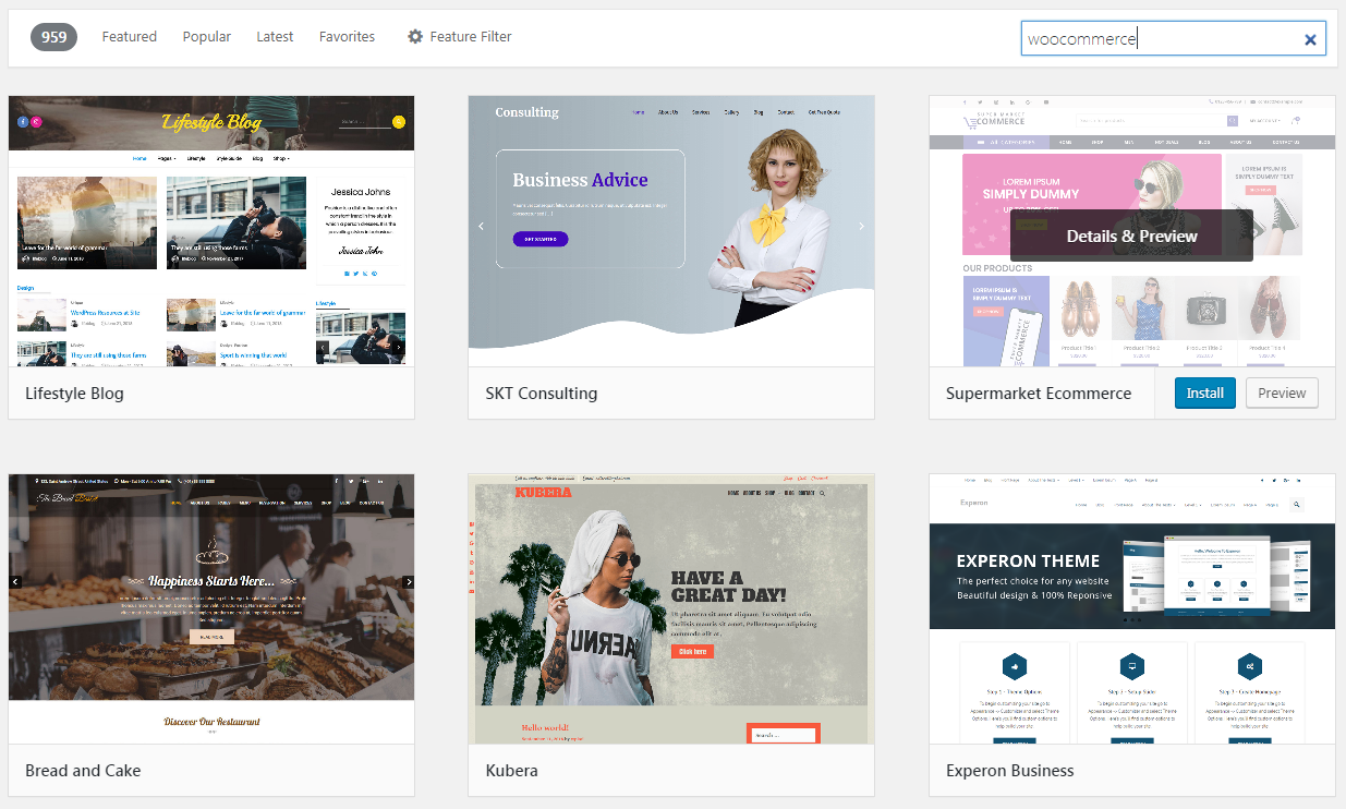 Templates that are optimized for WooCommerce