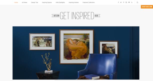 Art.com blog for online store