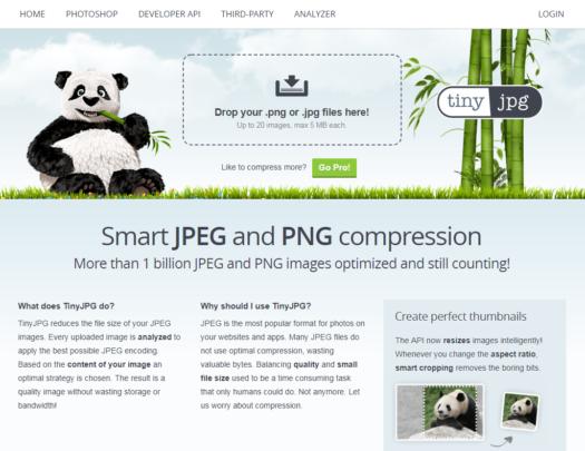 TinyJPG - Image optimization tool