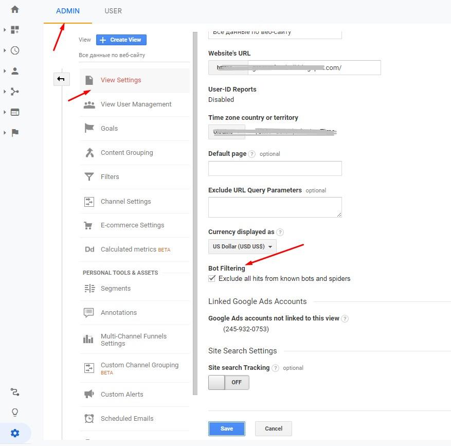 Google Analytics settings allow to filter bot traffic
