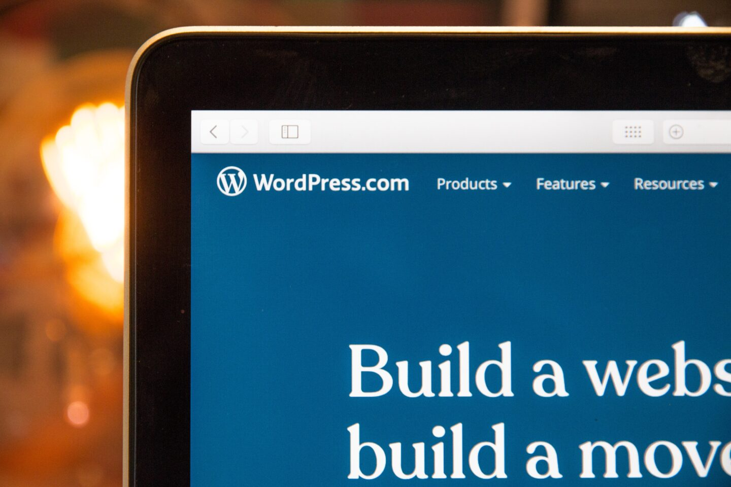 A laptop with WordPress main page