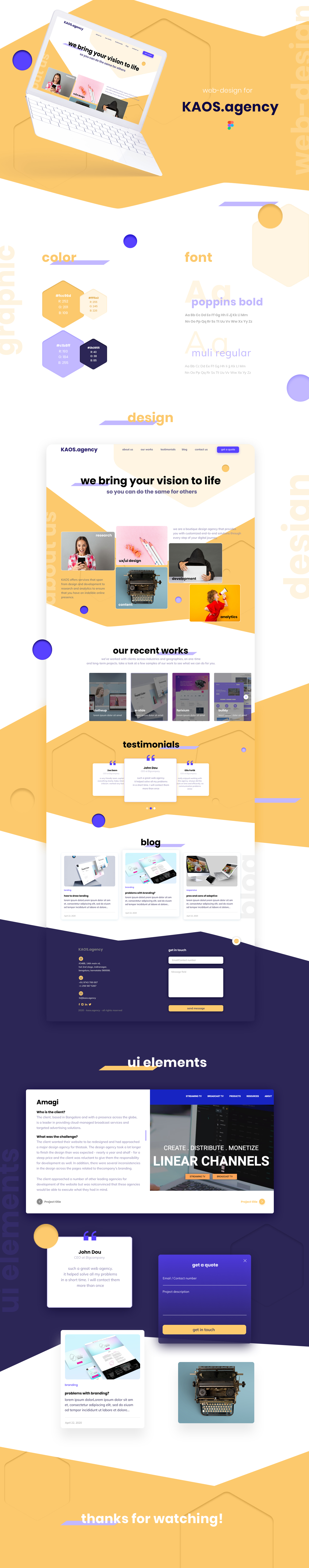 This presentation includes grafic elements wich shows UX design, new color scheme of a website and examples of responsive design