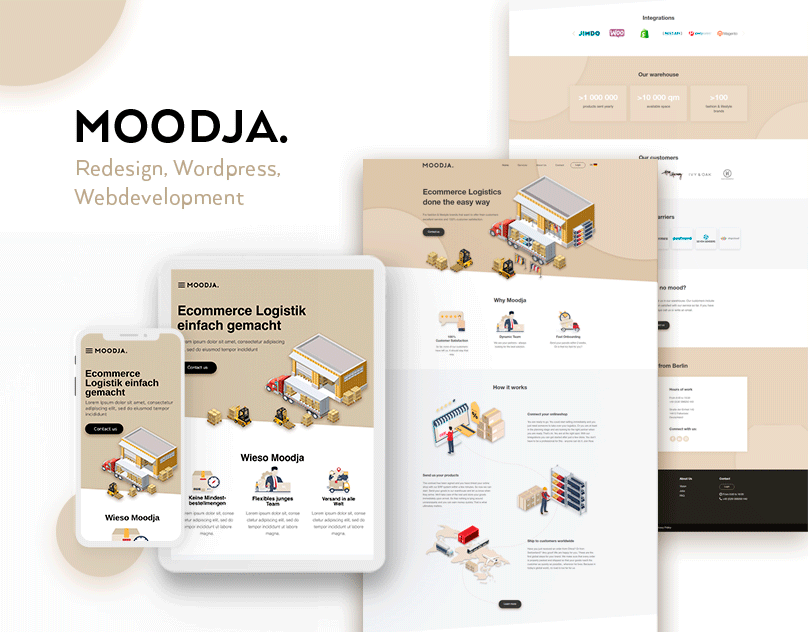 F5Studio UI/UX designers created unique design for a Moodja company
