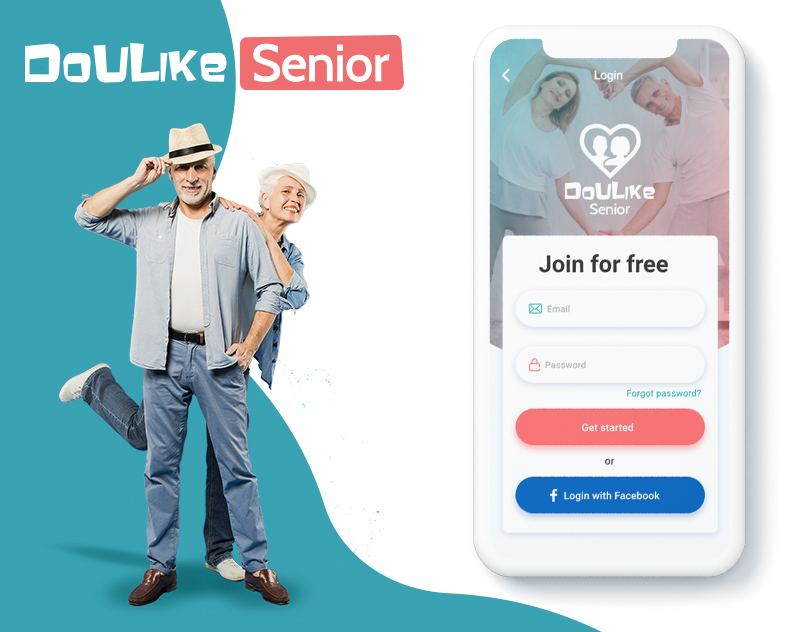 F5 Studio created a design of ios dating app for seniors