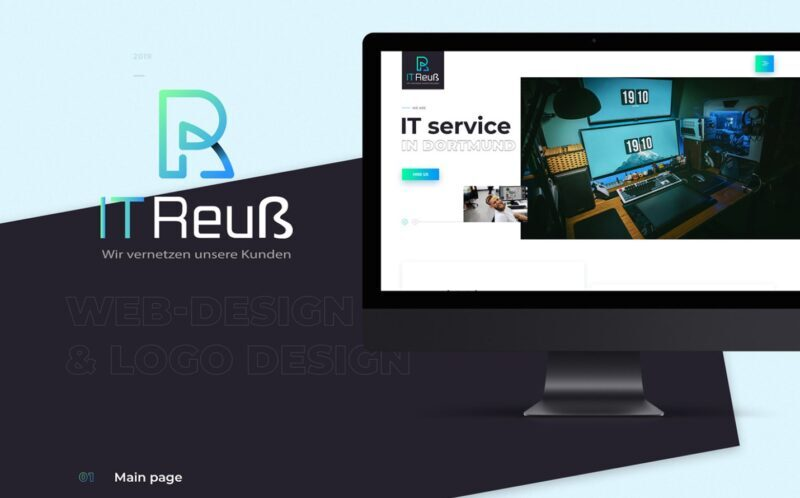 A home page of the IT company website is a preview of the full presentation of F5 Studio's web project