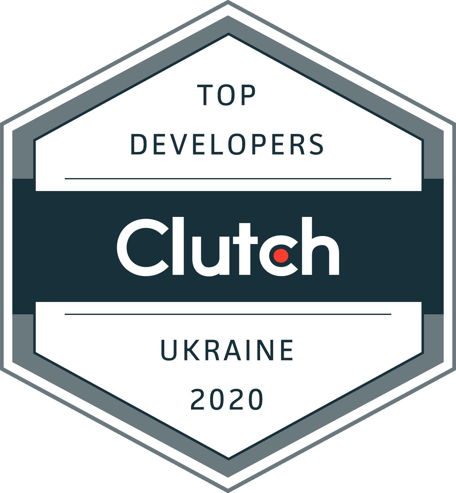 Clutch bage of Top developers in Ukraine 2020 for F5 Studio web agency