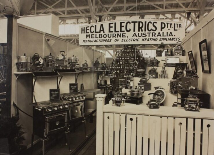 The old photo domestic electrical appliances of Hecla company