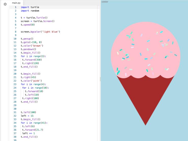 Screenshot of Python programming language