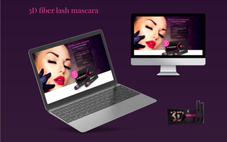 The presentation of the cosmetic eshop on the desctop and laptop