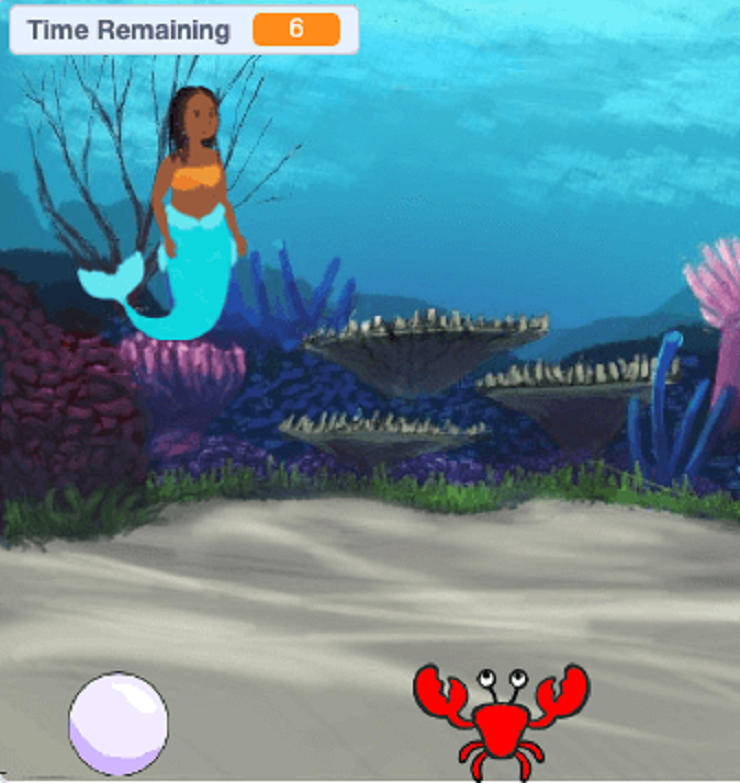 This screenshot demonstrates how the timer looks in the game