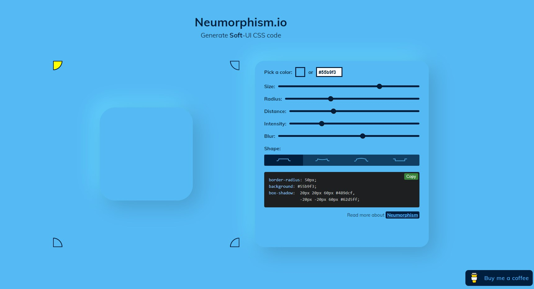 You can change elements of the special web app to create a neumorphic UI with CSS