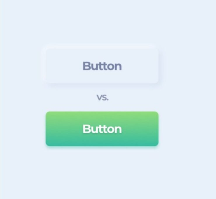 One button was created in Neumorphism another in Material design style to compare usability