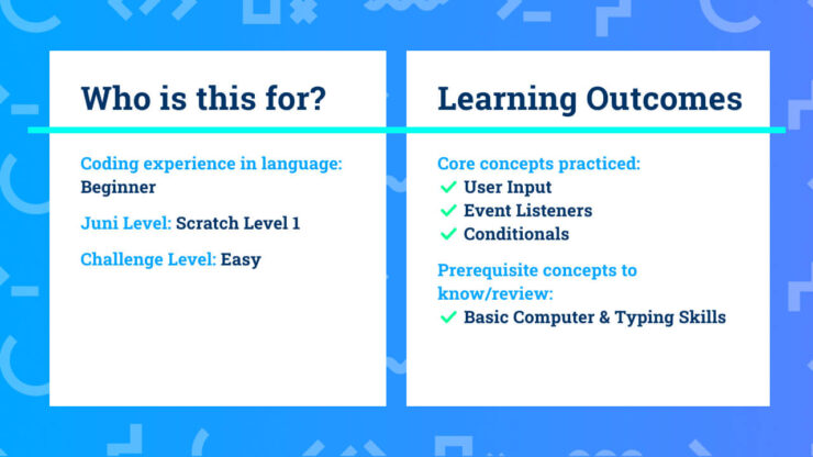 This project info and learning outcomes summary will help you decide if this Scratch coding project is right for you.