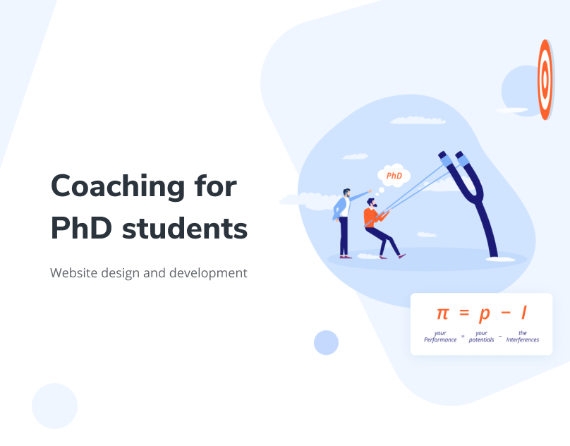 Preview of the presentation of PhD students coaching site